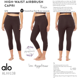 alo : High-Waist Airbrush Capri (Raisin) (AL00138)