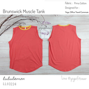 Lululemon - Brunswick Muscle Tank (Poppy Coral/ Heathered Honey zlemon) (LL03224)