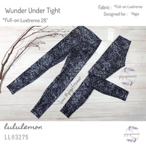 "Lululemon - Wunder Under Tight  *Full-on Luxtreme 28"" (Achromatize Ice Grey Black) (LL03275)"