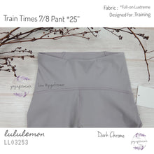 "Lululemon - Train Times 7/8 Pant *25"" (Dark Chome) (LL03253)"