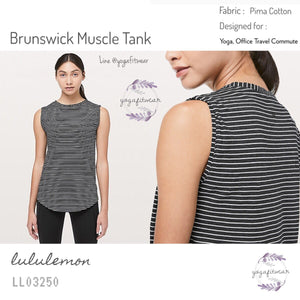 Lululemon - Brunswick Tank (Modern Stripe Heathered Black) (LL03250)