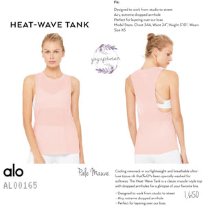 Alo - Heat-Wave Tank (Pale Mauve) (AL00165)