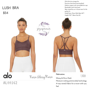 Alo - Lush Bra (Raisin Glossy/Raisin) (AL00162)