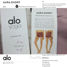 Alo - Aura Short (Dusted Plum) (AL00172)