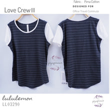 Lululemon - Love CrewIII (Short Serve strip Heathered  Black white/white) (LL03290)