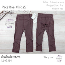 "Lululemon - Pace Rival Crop 22"" (Cherry Cola) (LL03314)"