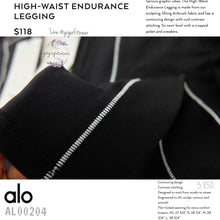 ALO - High-Waist Endurance Legging (Black) (AL00204)