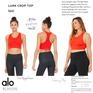 ALO - Lark Crop Top (Cherry Pop) (AL00206)