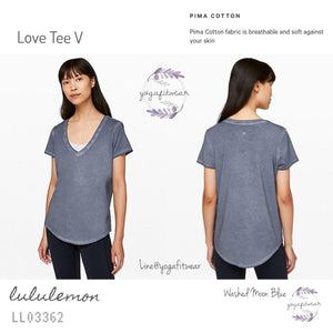 Lululemon - Love Tee V (Washed Moon Blue) (LL03362)