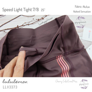 "Lululemon - Speed Light Tight 7/8*25"" (Cherry Cola/Coral Kiss) (LL03373)"