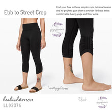 Lululemon - Ebb to Street Crop (Black) (LL03376)
