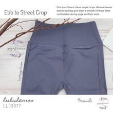 Lululemon - Ebb to Street Crop (Moonwalk) (LL03377)