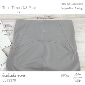 "Lululemon - Train Times 7/8 Pant*25"" (Half Moon) (LL03378)"