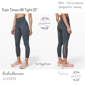 "Lululemon - Train Times High-Rise Tight 25"" (Nightcap) (LL03393)"