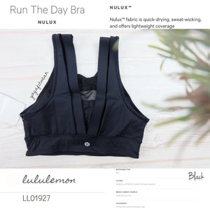 Lululemon - Run The Day  Bra (Black) (LL01927)