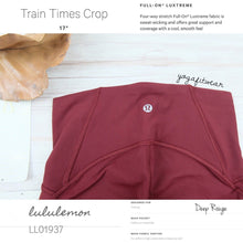 "Lululemon - Train Tmes Crop 17"" (Deep Rouge) (LL01937)"