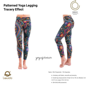 Liquido - Patterned Yoga Legging tracery Effect (LQ00495)