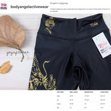 Body Angel Activewear - Dragon Legging (Black/Gold) (BA00001)