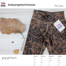 Body Angel Activewear - Tan Lace Legging (Nude/Gold) (BA00002)