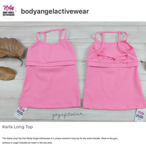 Body Angel Activewear - Karla Long Top (Bubblegum) (BA00003)