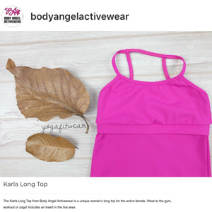Body Angel Activewear - Karla Long Top (Fuschia) (BA00004)