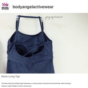 Body Angel Activewear - Karla Long Top (Midnight blue) (BA00005)