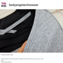 Body Angel Activewear - Comfy Karla  Top (Heather grey/black) (BA00011)