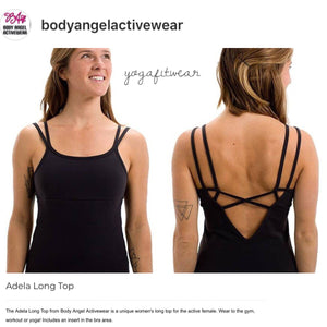 Body Angel Activewear - Adela Long Top (Black) (BA00013)