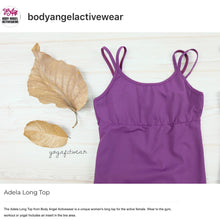 Body Angel Activewear - Adela Long Top (Plum) (BA00014)