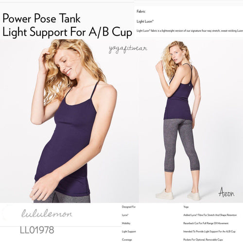 Lululemon -  Power Pose Tank*Light Support for A/B cup (Aeon) (LL01978)
