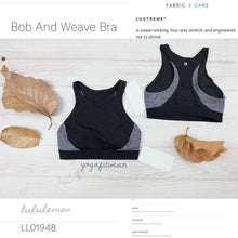 Lululemon -  Bob and Weave Bra (Black/Heathered Black) (LL01948)