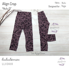 "Lululemon - Align Crop *21"" (Mini Dust Floral Antique Bark Black) (LL03408)"