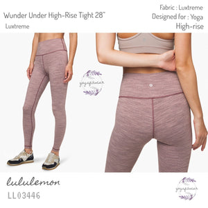 "Lululemon - Wunder Under High-rise Tight28"" *Luxtreme (Wee are from space frosted mulberry blac) (LL03446)"
