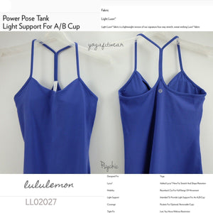 Lululemon -  Power Pose Tank(USA) Light Support For A/B Cup (Psychic) (LL02027)