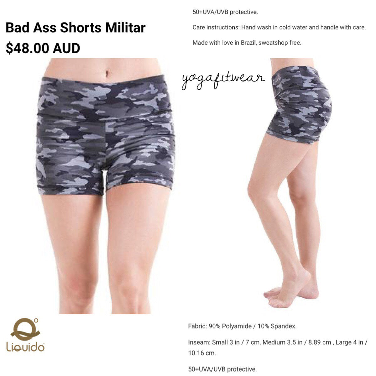 Liquido - Patterned Yoga Legging  :Militer (LQ00465)