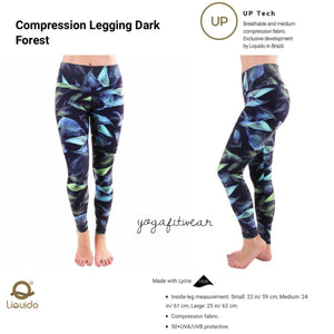 Liquido - Patterned Yoga Legging  :Dark Forest (LQ00525)
