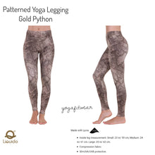 Liquido - Patterned Yoga Legging  :Gold Python (LQ00387)