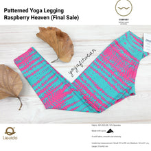 Liquido - Patterned Yoga Legging  :Raspberry Heaven (LQ00411)