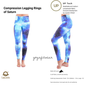 Liquido - Patterned Yoga Legging  :Rings of Saturn (LQ00510)
