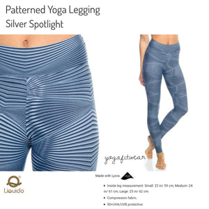 Liquido - Patterned Yoga Legging  :Silver Spotlight (LQ00442)