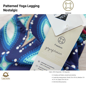 Liquido - Patterned Yoga Legging  :Nostalgic (LQ00514)