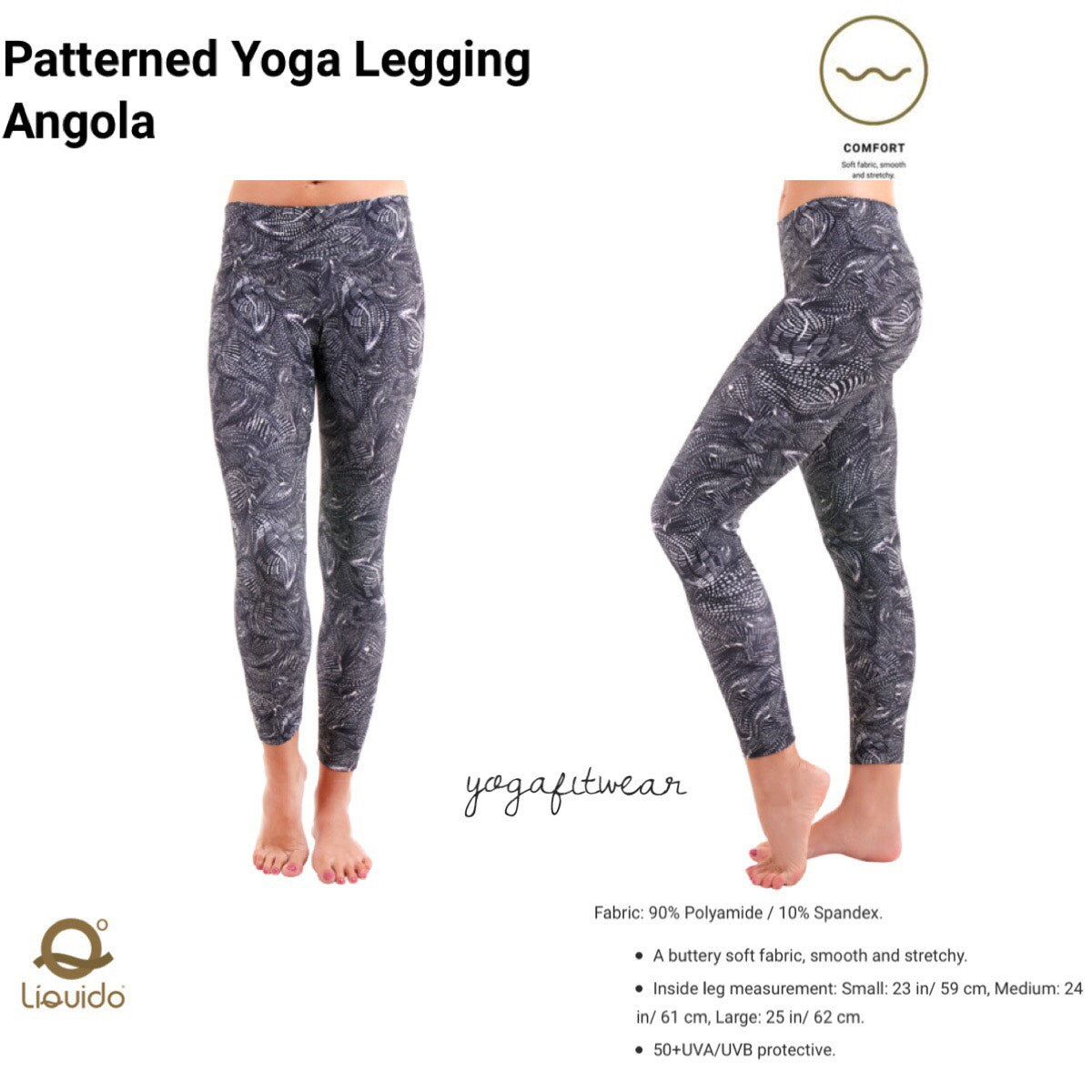 Liquido - Patterned Yoga Legging  :Angola (LQ00517)