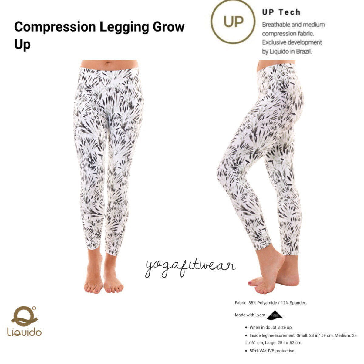 Liquido - Patterned Yoga Legging  :Grow Up (LQ00516)