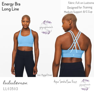Lululemon - Energy Bra *Long Line (Aqua Smoke/Sea Frost) (LL03503)