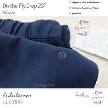 "Lululemon - On The Fly Crop 23"" *Woven (True Navy) (LL03507)"