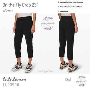"Lululemon - On The Fly Crop 23"" *Woven (Black) (LL03508)"