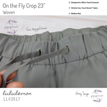 "Lululemon - On The Fly Crop 23"" *Woven (Grey Sage) (LL03517)"
