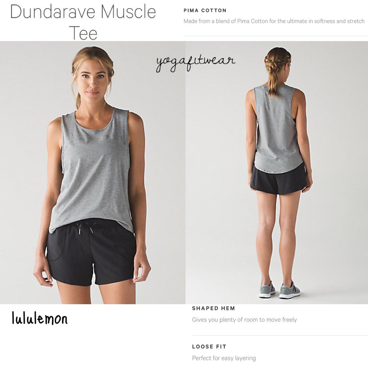 Lululemon - Dundarave Mascle Tee (Heathered Medium Grey) (LL01294)