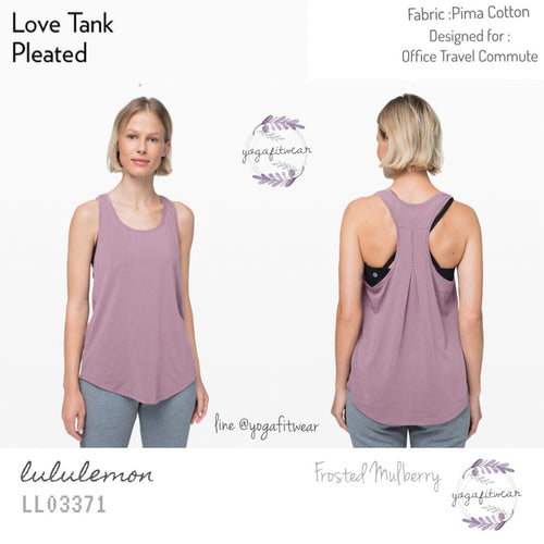 Lululemon - Love Tank Pleated (Frosted Mulberry) (LL03371)