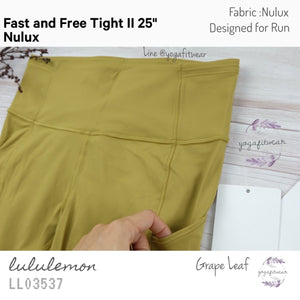 "Lululemon - Fast and Free TightII *25"" *Nulux (Grape Leaf) (LL03537)"